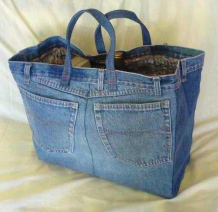 Blue jean tote bag | DIY | Pinterest