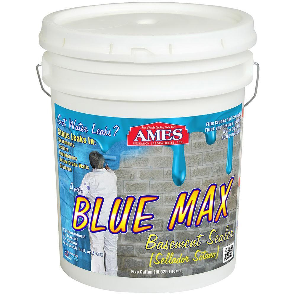 Ames Blue Max 5 Gal Basement Sealer Regular Grade Blue Flat Waterproofing Basement Liquid Rubber Basement