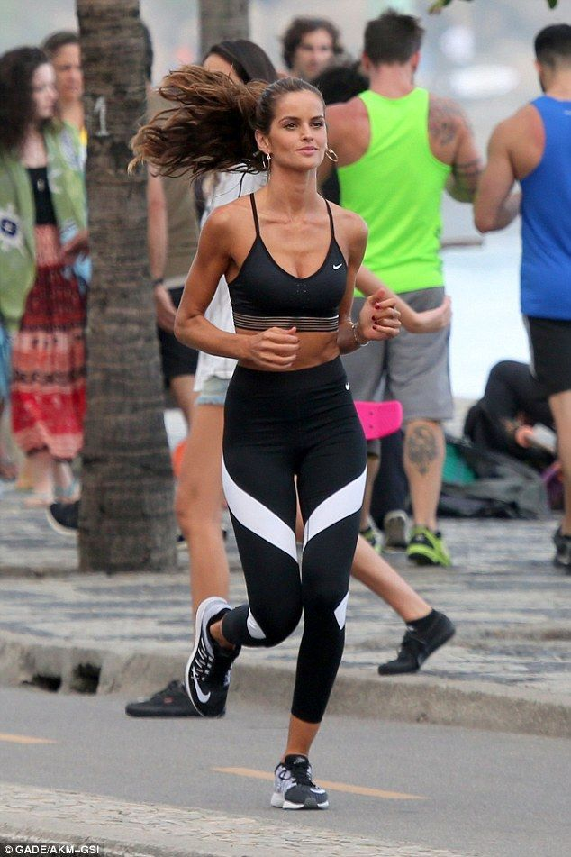 Izabel Goulart shows off her athletic figure on fashion shoot in Rio
