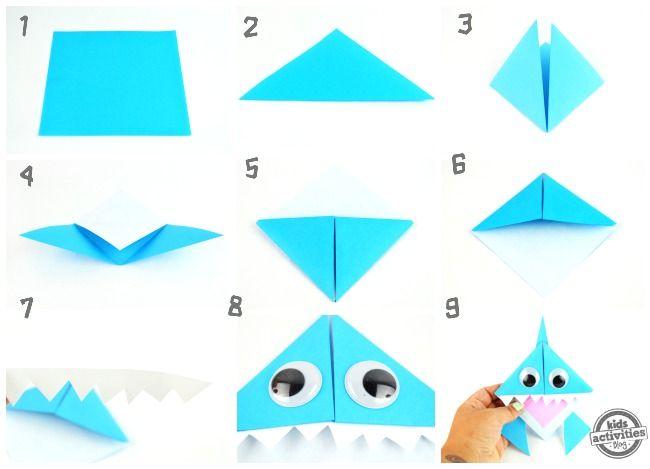 Celebrate Shark Week With This Origami Shark Bookmark Diy Bookmark