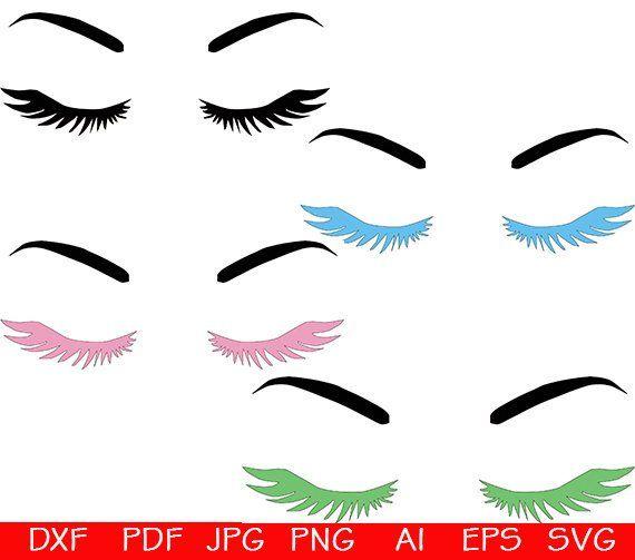 Eyes svg, Eye Lashes SVG, Eyelashes Svg file, Eyebrows SVG ...