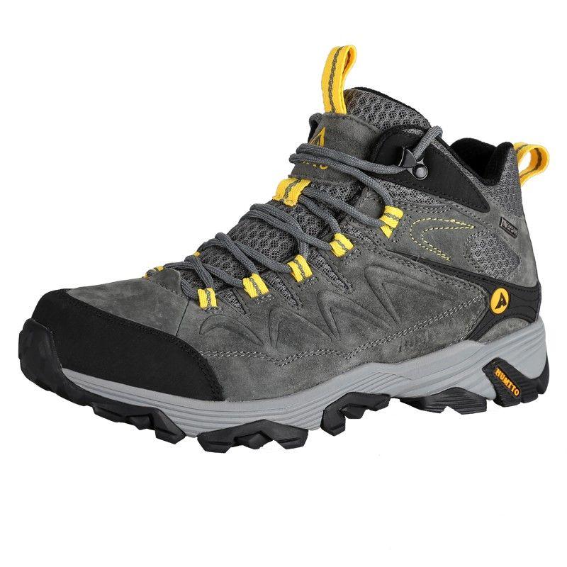 ee166ef8217 HUMTTO Cuero de invierno para hombres al aire libre Senderismo Trekking  Botas Zapatillas de deporte Zapatillas de escalada deportiva