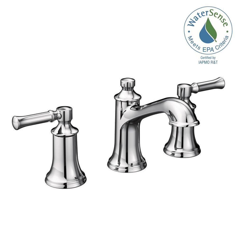Moen Dartmoor 8 In Widespread 2 Handle Bathroom Faucet In Chrome