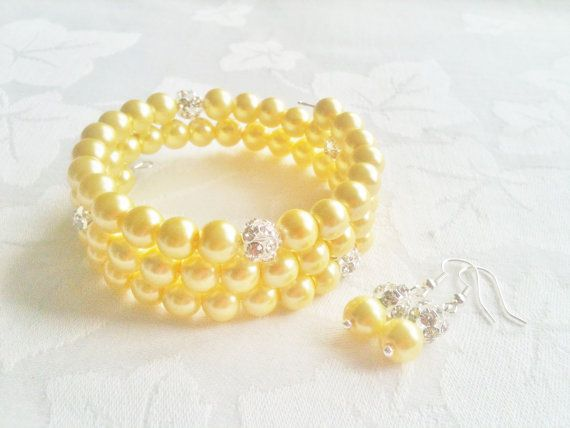 Lemon Bridesmaid Jewelry Set Lemon Bridesmaid by InfinityByClaire, £10.47