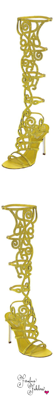 Frivolous Fabulous - Rene Caovilla Yellow Gladiator Sandals 2014