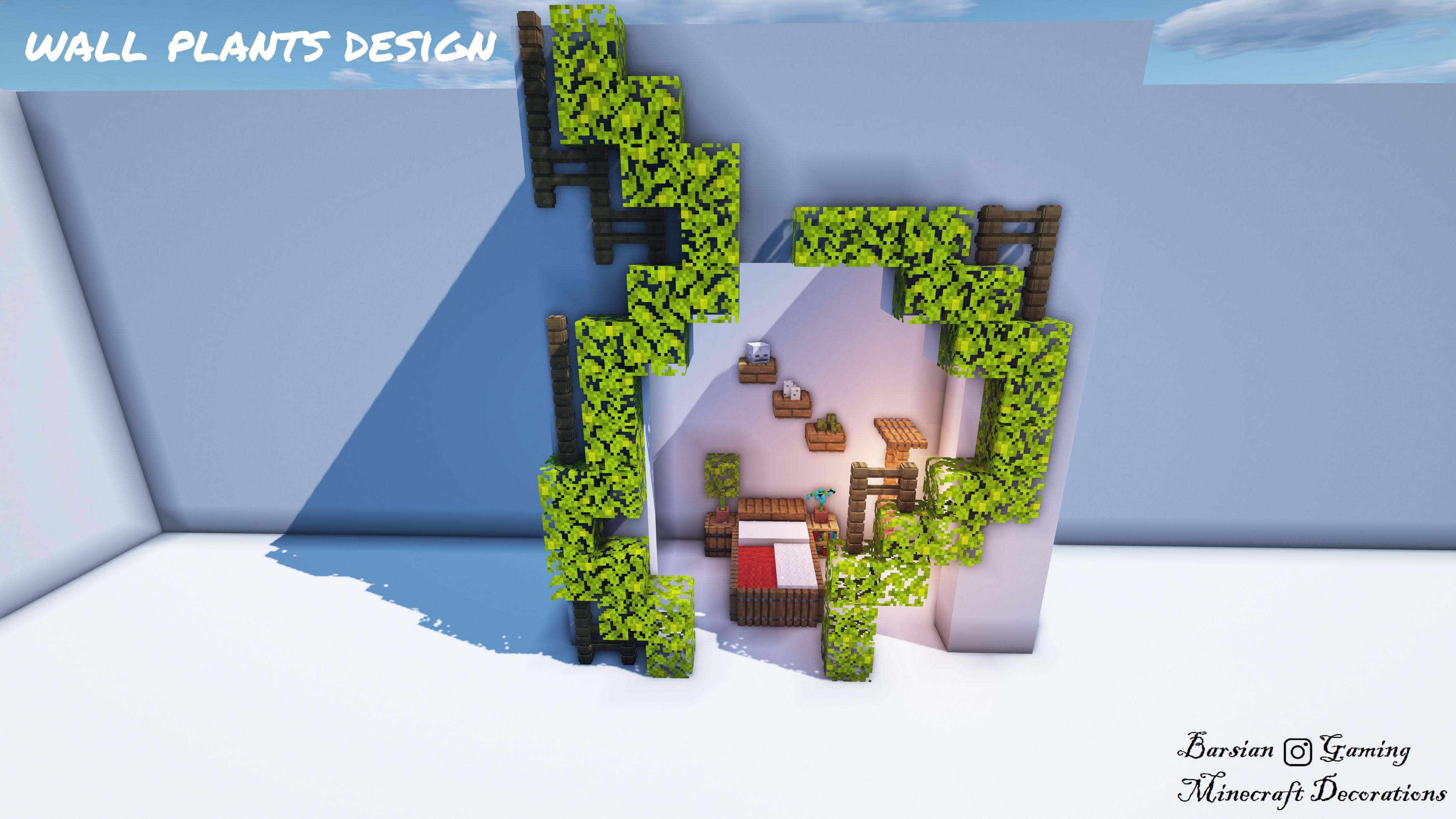 Wall Plants Design Minecraft Designs Minecraft Decorations Minecraft Crafts