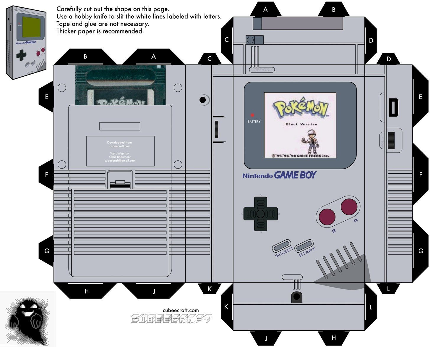 gameboy cutout to place boxes on tables geeky wedding ideas
