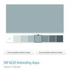 interesting white gray bedroom | sherwin williams interesting aqua 6220 - Google Search ...