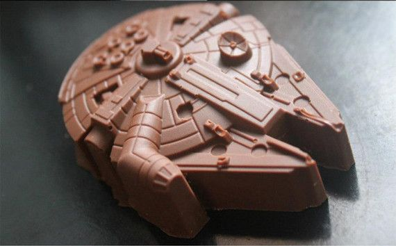 Global Zombie - Millennium Falcon Ice Tray, $9.49 (http://www.globalzombie.com/millennium-falcon-ice-tray/) Or candy for then next birthday party