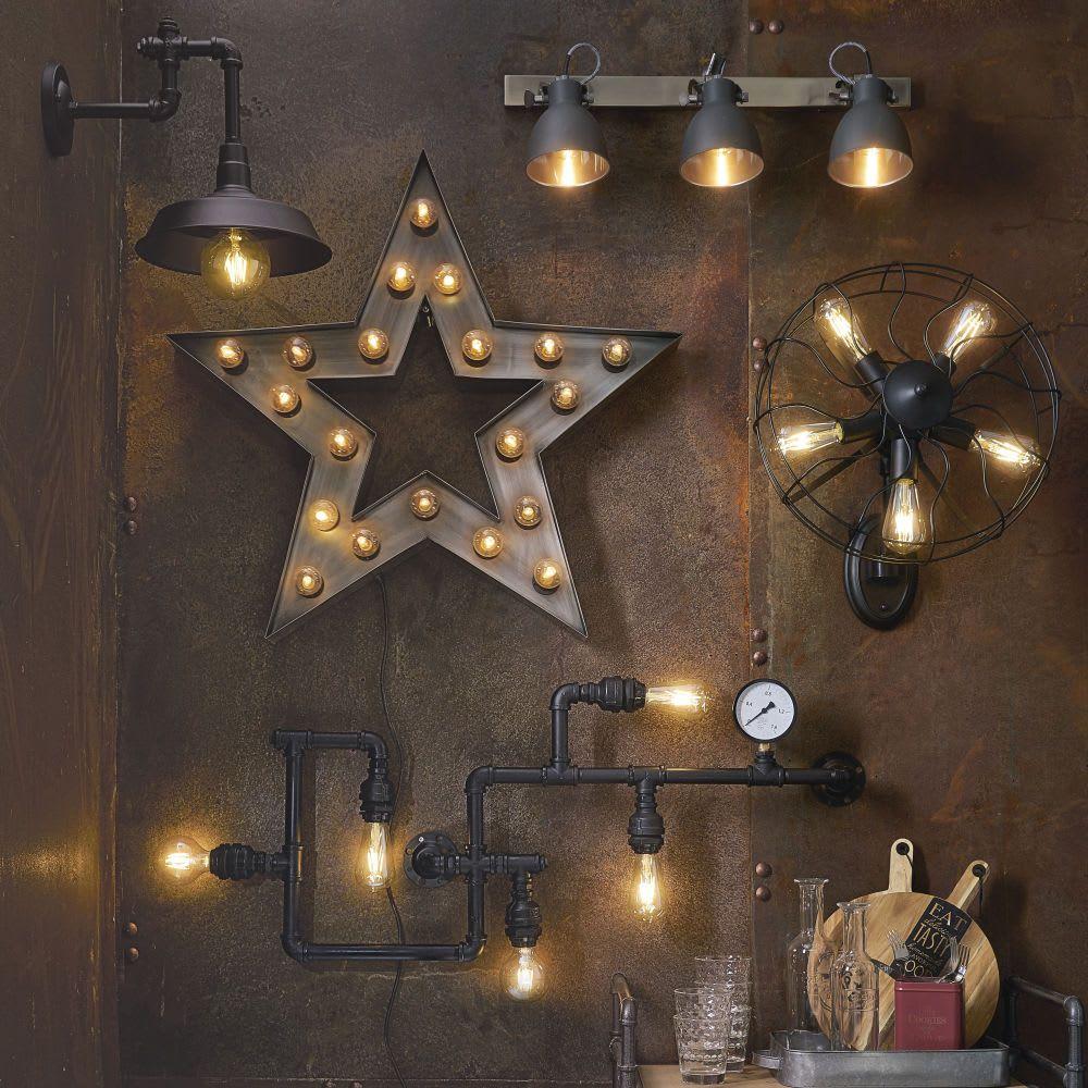 Applique Etoile Indus En Metal H 80 Cm Maisons Du Monde Wandleuchte Wand Wandlampe