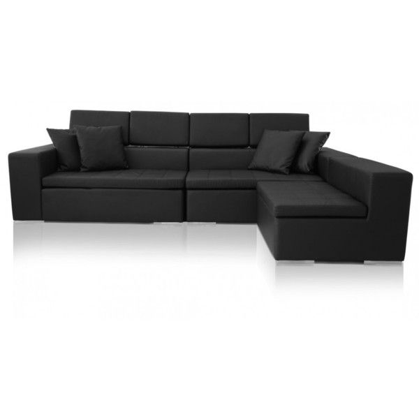 Sofa Black Monaco Leather Sectional Modern Furniture Stores Modani Furniture Modern Leather Sofa Contemporary Leather Sofa Leather Sectional Sofas