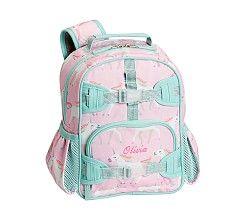 Mackenzie Pink Unicorn Parade Rolling Backpack