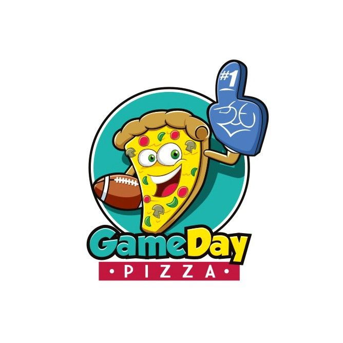 Design a fun logo for a pizzeria attached to an arcade by Genovius