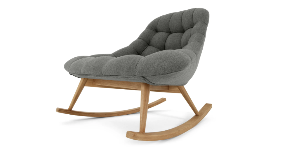 Kolton Rocking Chair Gris Marne En 2020 Chaise A Bascule Fauteuil Fauteuil Gris