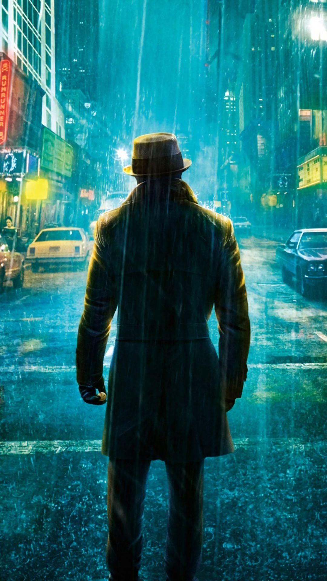 1080x1920 Rorschach Waifu Movie Watchmen Rain Street Wallpaper Rorschach Watchmen Rain Wallpapers