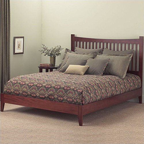 Jakarta Platform Bed With Wood Frame And Straight Spindle