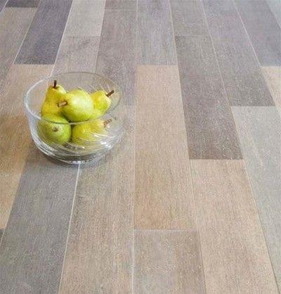 """vintage wood planks- porcelain tile 5""""x24"""" - contemporary - floor"""