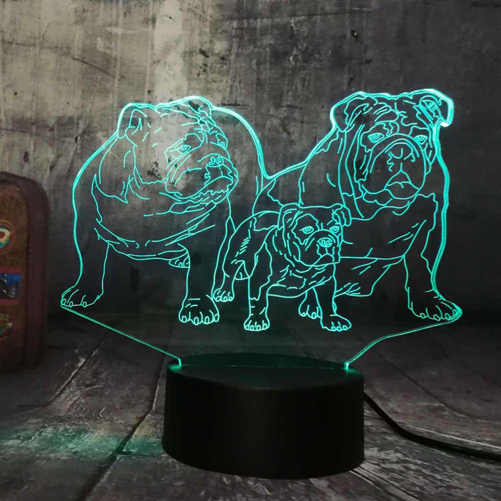 Neuheit Nette Welpen Bulldog Familie 3d Led Nachtlicht Schone Hund Doggy Tier Tisch Home Schlaf Haus Dekor Lampe Kind Kind Lampe Aliexpress In 2020 Nachtlicht Haus Dekor Kinder Lampen
