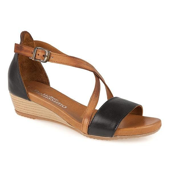 e3bf7e91c61 Ladies Low Wedge Leather sandal (STZYN2100) by Bellissimo @ Pavers ...