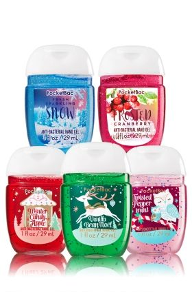 Holiday Magic 5 Pack Pocketbac Sanitizers Bath Body Works