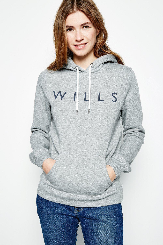 Activewear Jack Wills Womens Hoodie Sweater Medium Navy Blue
