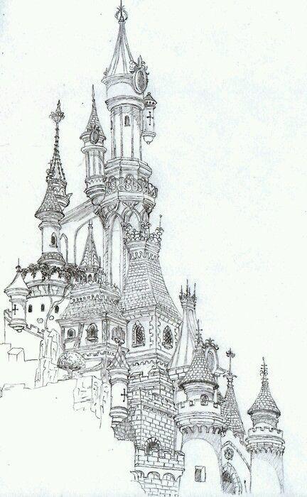 Algodao Doce Castelos Desenho Desenhos De Perspectiva Castelo