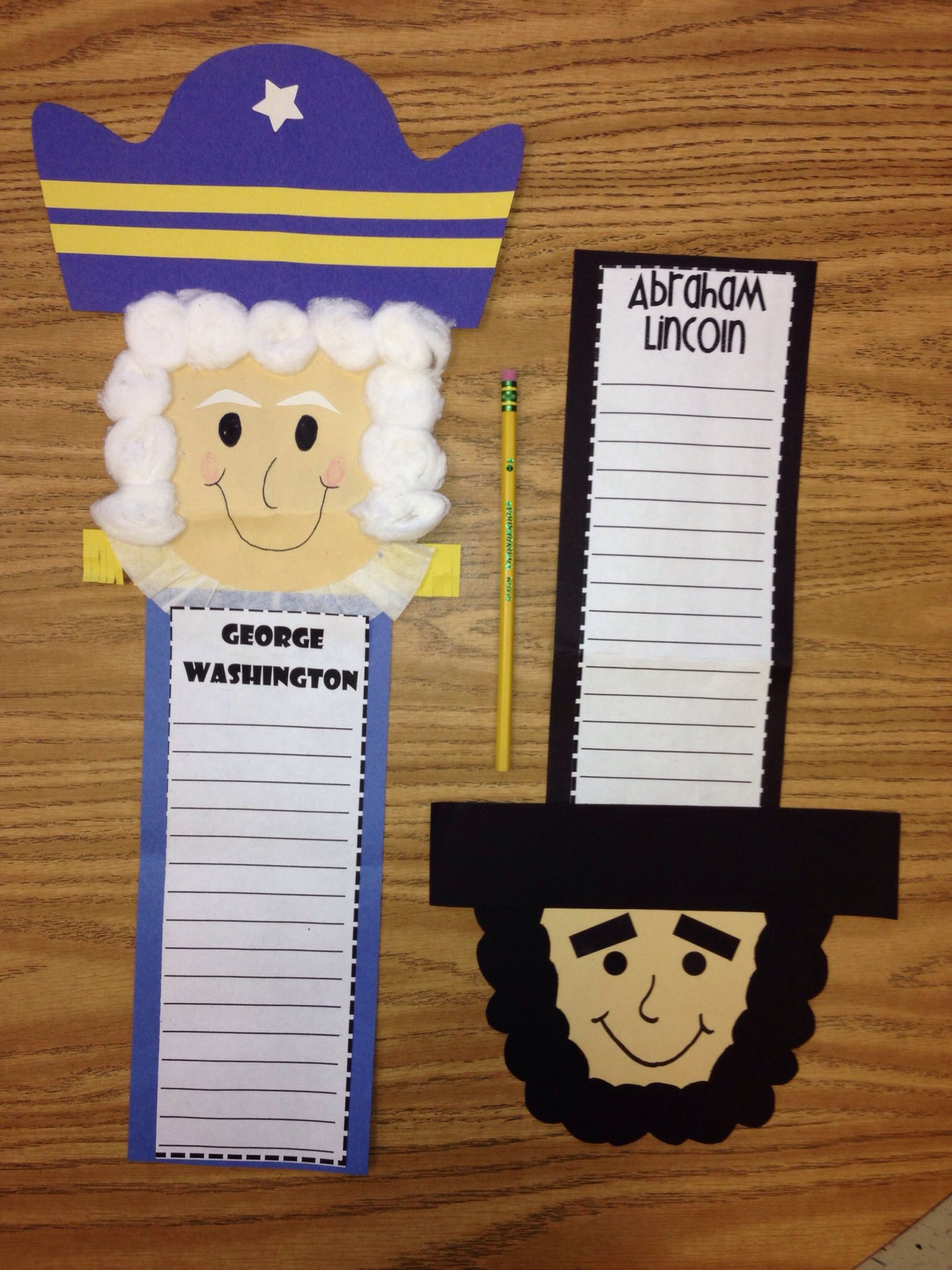 President S Day Craft George Washington Abe Lincoln