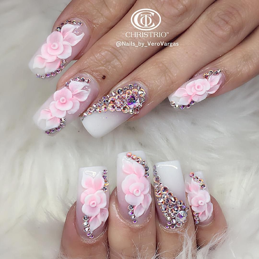 These nails are so neat... | Acrylic nails, art and design ...