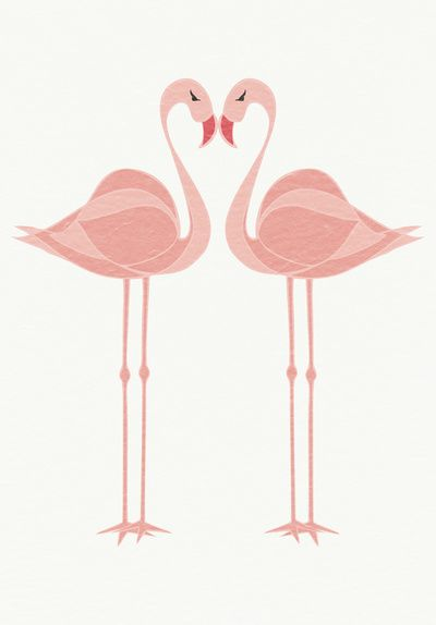 Flamingo Friend (Tropical birds, Miami, Trending Flamingo) Art Print