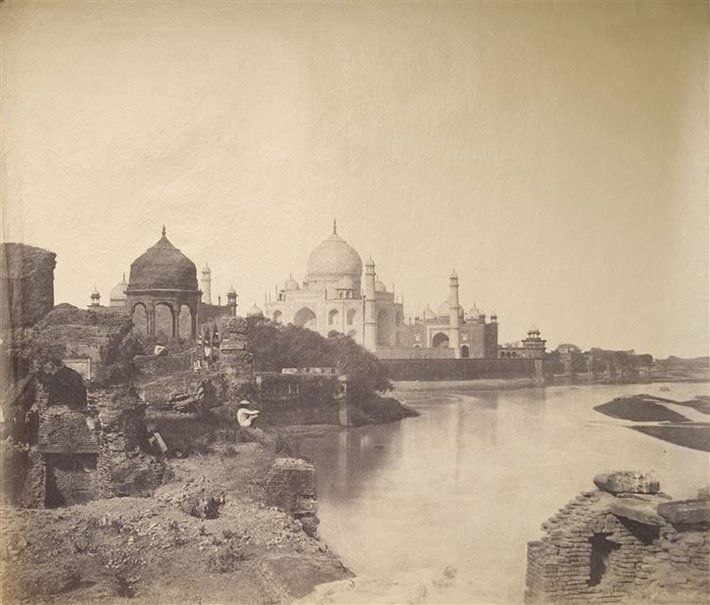 This is the earliest known photo of the Taj Mahal, 1850s