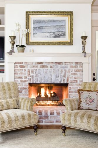 Fireplace Using 100 Year Old Reclaimed Chicago Brick And