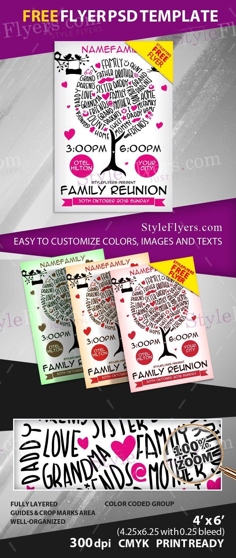Family Reunion Flyer Templates Family Reunion Free Psd Flyer Template Free Download Free Psd Flyer Templates Psd Flyer Templates Free Psd Flyer