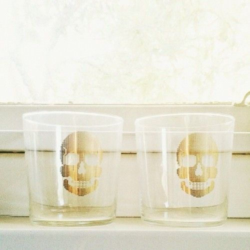 Zara Home skull glasses