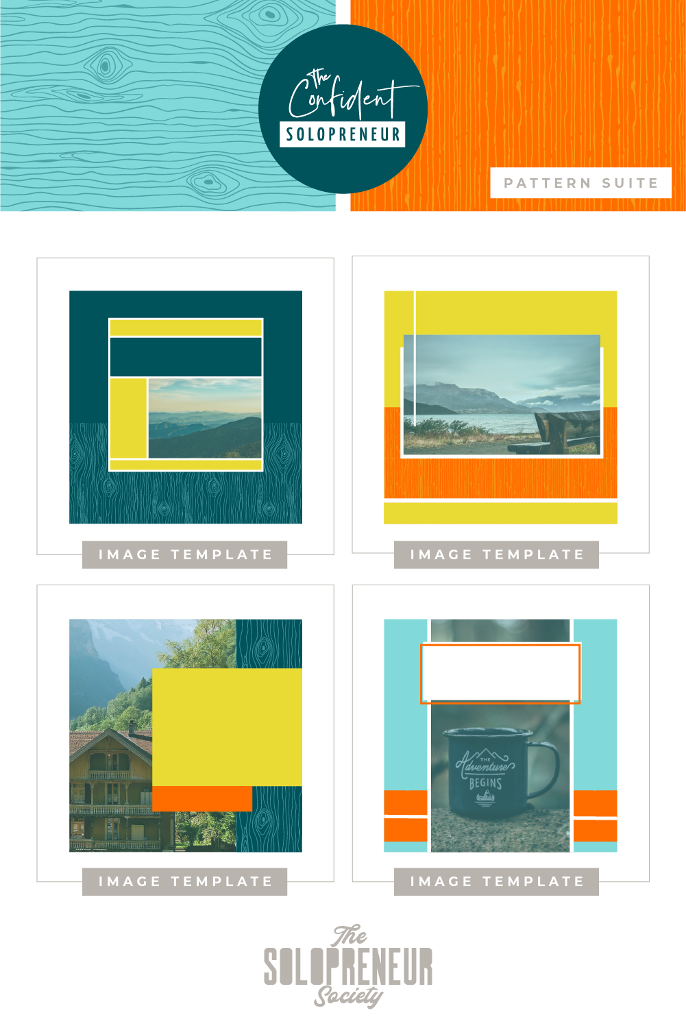 Social Media Image Template Designs for The Confident