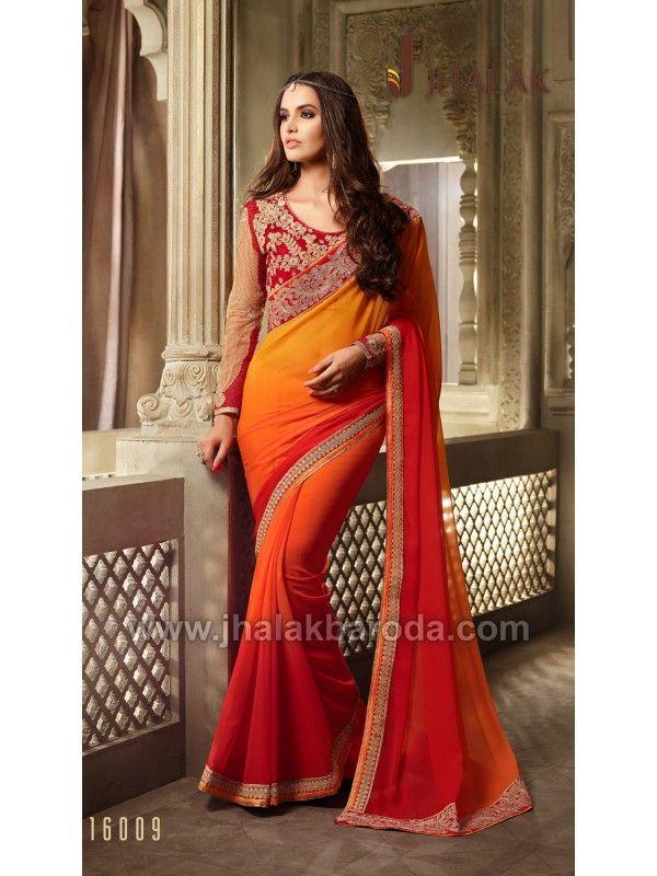 Designer saree TFH-16009