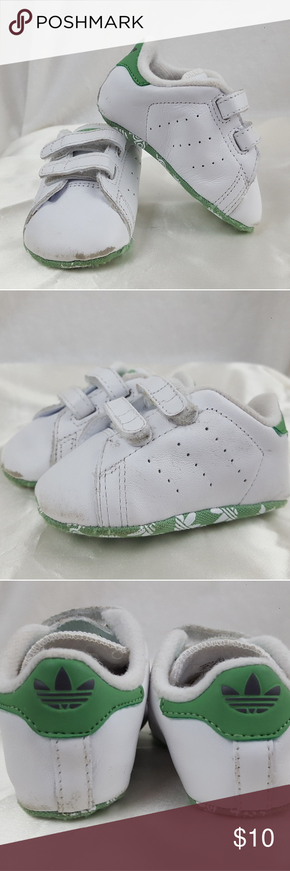 buy popular 6d930 1eb38 Adidas Originals Stan Smith Crib Baby Infant Sz 1 Adidas ...