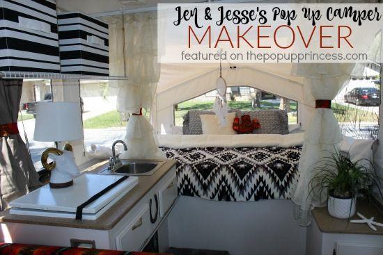 Jen & Jesse's Pop Up Camper Makeover | Pop-up Camper