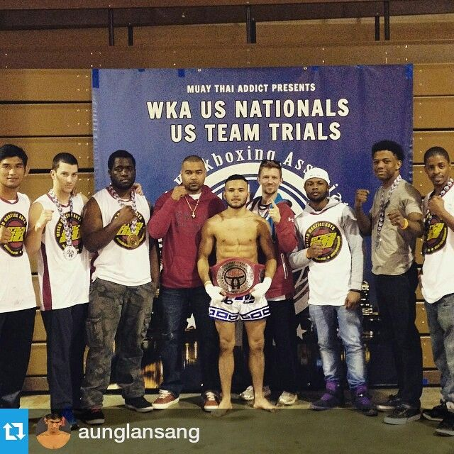 #Repost @aunglansang ・・・ Great job at the WKAs 2015, 2 champs and 3 runner ups. @crazy88mma @lloydirvinmma