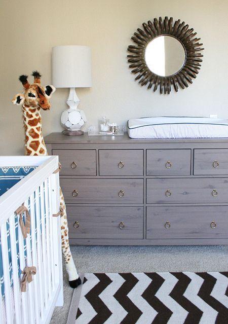 Ikea hemnes dresser with brass ring pulls added | ZuBabyIdeas ...
