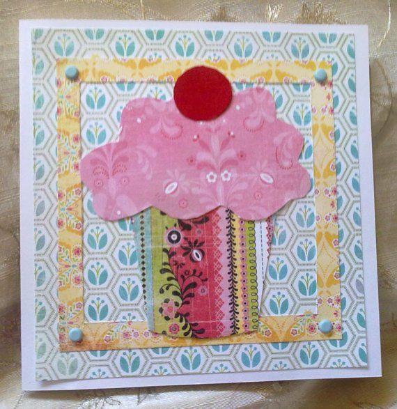 handmade birthday card cupcake by CardsMadebyAnna on Etsy, €5,00