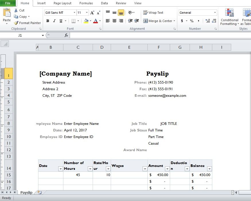 Pin by Excel Tmp on Company Templates Pinterest - free wage slip template