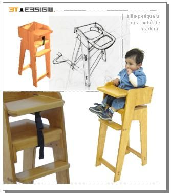 Sillas de comer para bebes en madera buscar con google for Silla de bebe de madera