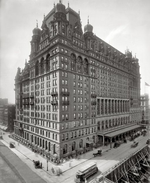 The Original Waldorf Astoria Hotel Opens In 1897 Combining The Astor And Waldorf Hotels It Was Destroyed In 1929 T York Hotels Vintage New York Astoria Hotel