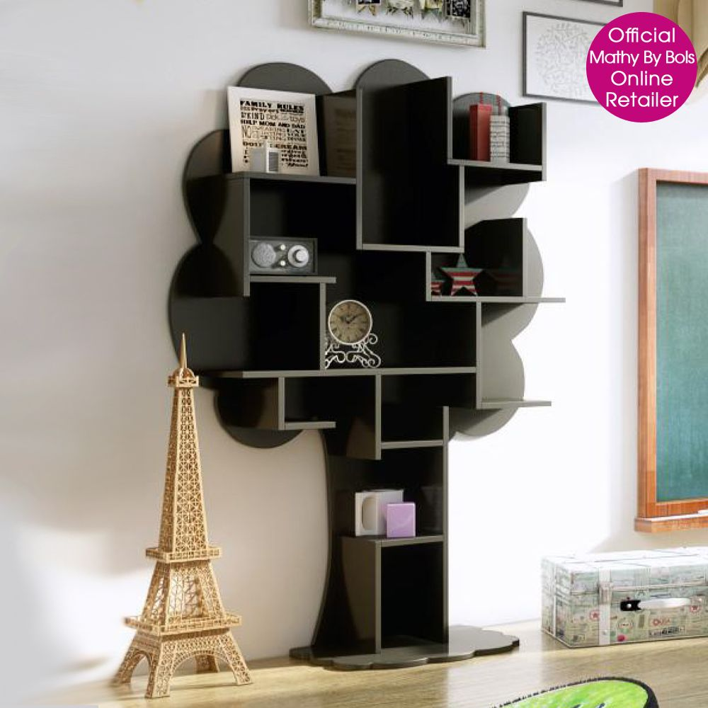Creative Tree Bookshelf Designs Offering Natural Look : Beautiful Mathy By  Bols Black Tree Shaped Kids