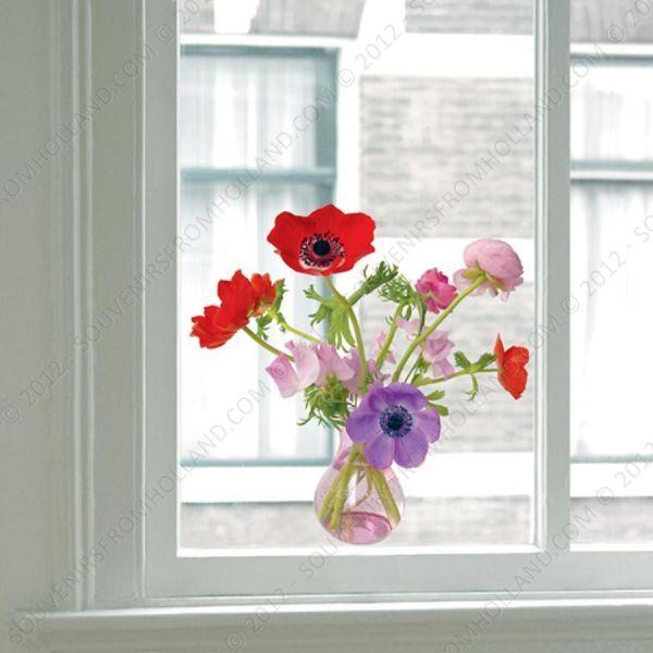 Flat Flower Static Window Stickers Keep Birds From Flying Into - Window stickers to deter birds