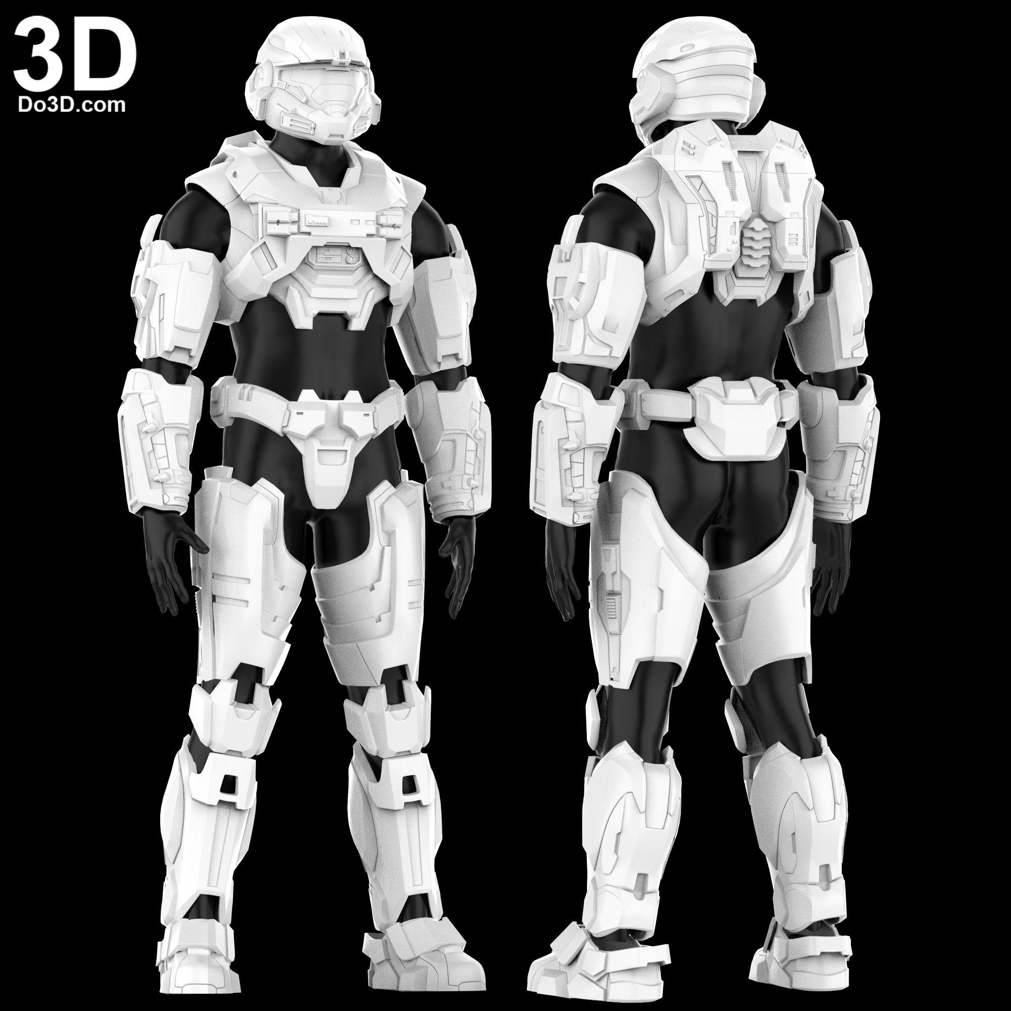 3D Printable Model: Halo Reach Armor Mjolnir Powered Assault Armor