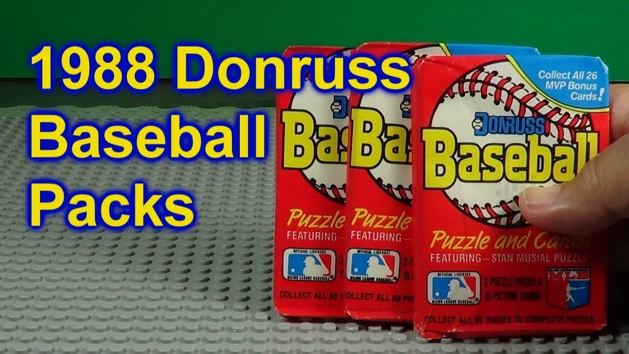 1988 donruss baseball cards opening 3 packs who did i get
