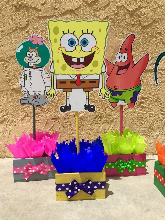 Spongebob Squarepants Patrick Squidward Sandy Cheeks Centerpieces for Birthday Candy Buffet or Favors Table Handcrafted from Wood SET OF 6  sc 1 st  Pinterest & Spongebob Squarepants Patrick Squidward Sandy Cheeks Centerpieces ...