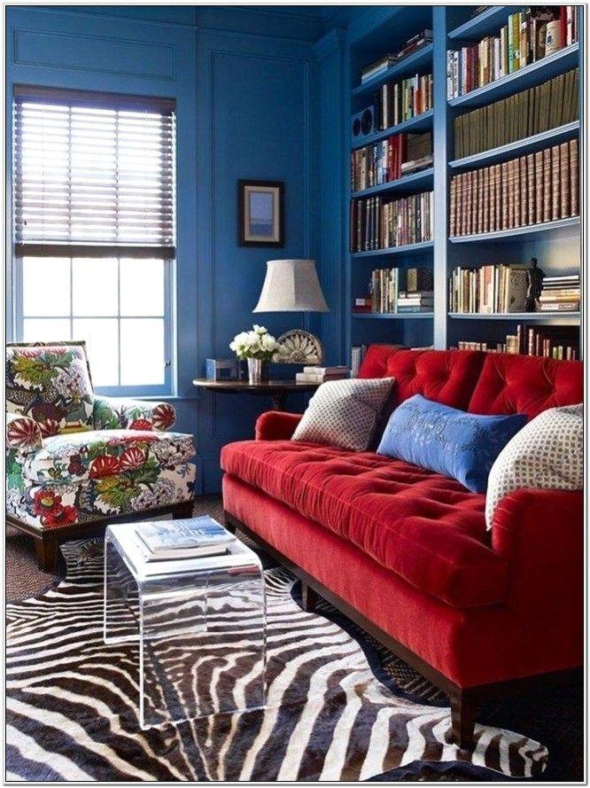 Red Zebra Living Room Ideas in 2020 | Red sofa living room ...