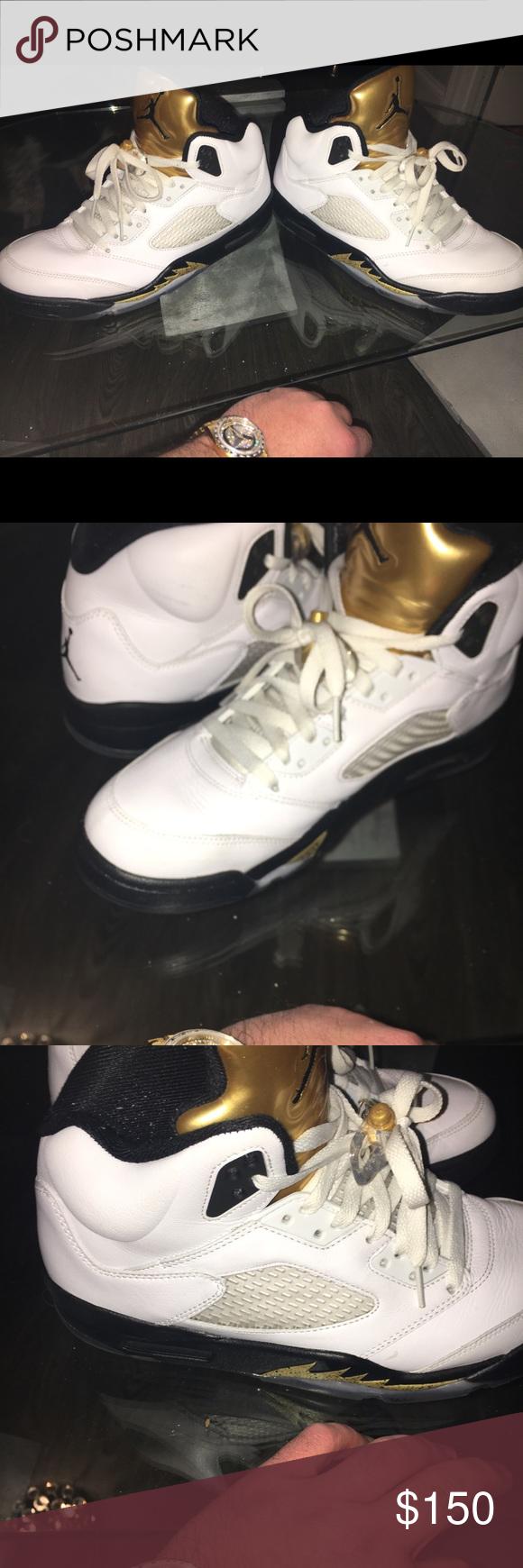 Jordan gold coin Size 10 Jordan gold coin 5s Nike Shoes Sneakers